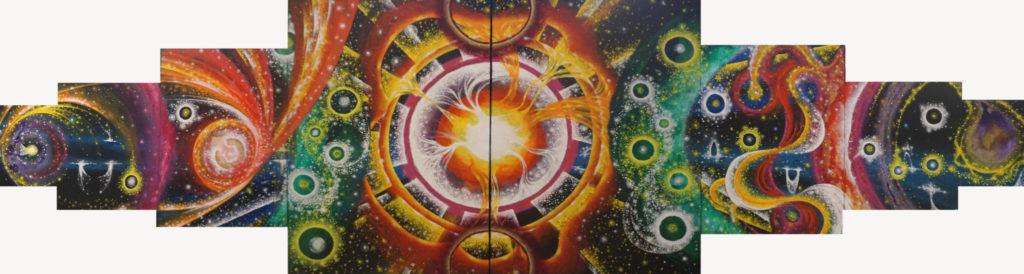 Helmut Eppich Galaxy 1 Painting