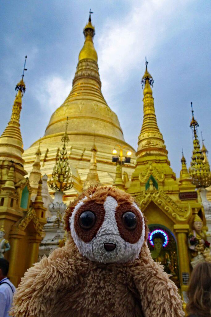 Cepat at the Shwedagon Pagoda, Yangon