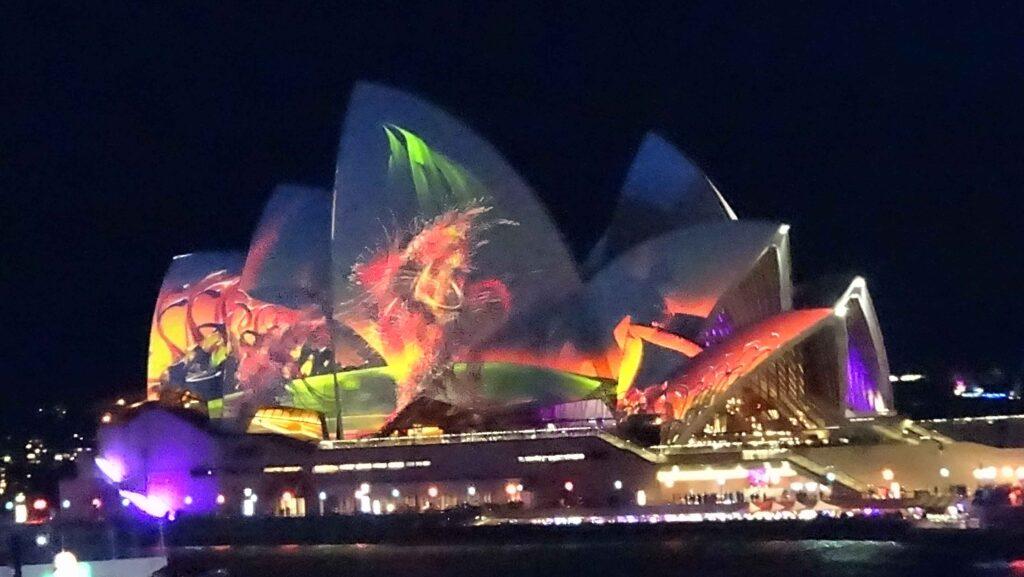 Lighted Sydney Opera House